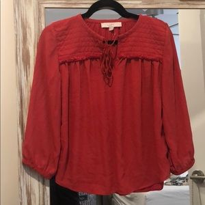 Adorable red blouse from loft